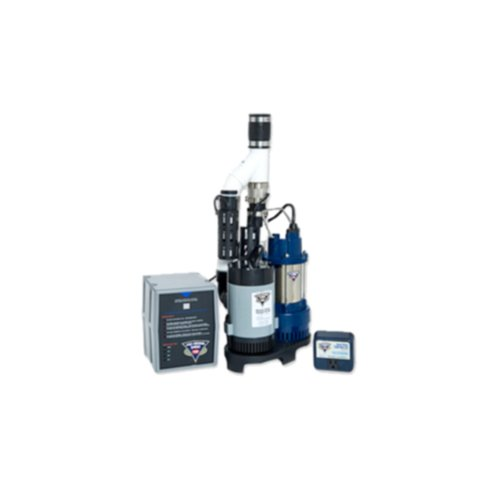 (Glentronics, Inc. PS-C33 PHCC 3000 Gallons Per Hour Pro Series 1/3 HP Combination Sump Pump System)