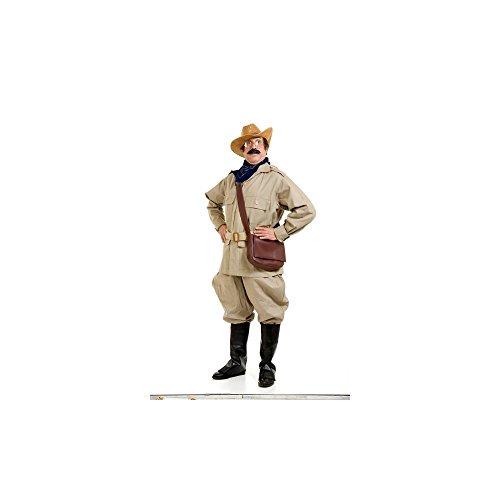 Teddy Roosevelt Glasses Costume (Peter Alan Inc Mens Teddy Roosevelt Adult Costume Black Large)