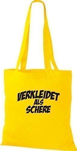 Camiseta InStyle bolsa tijeras de calidad como de carnaval, trajes disfrazaran, varios colores amarillo - amarillo
