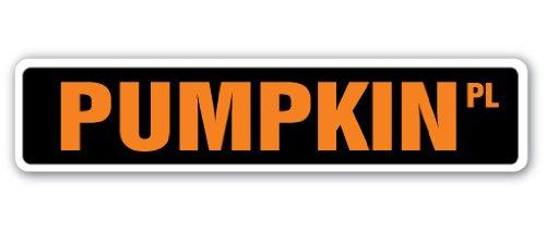 (PUMPKIN Street Sign patch halloween squash farm farmer | Indoor/Outdoor | 36