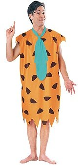 Fred Flintstone-Animated Men's Costume by Rubies orange (Adult Fred Flintstone Costume)