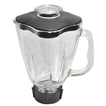 Brentwood P-OST723 6 Piece Extra Large Capacity Glass Jar Replacement Set, Fits Oster Blender