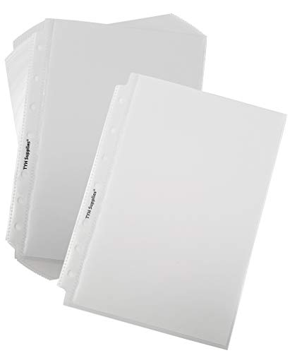 TYH Supplies 200-Pack Economy 7 Hole Half Page Small Clear Sheet Protectors 5.5