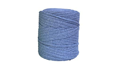 T-Shirt Yarn, 130 Yards, 1 1/2 lb, Bulky Yarn, Jersey Yarn, Fabric Yarn, Recycled (Marble Baby Blue)