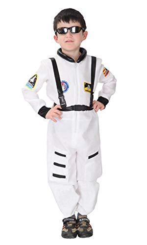 stylesilove Kid Boys Halloween Costume Party Cosplay Outfit Themed Party Birthdays Party (Astronaut-White, XL/10-12) ()