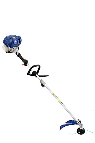 Wild Badger Power WBP31BCF 31 cc Gas 4-Cycle 2-in-1 Straight Shaft Grass Trimmer with Brush Cutte, Blue