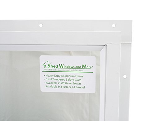 Shed Window 14 X 21 White J-Channel Mount Safety Glass by Shed Windows and More (Image #1)