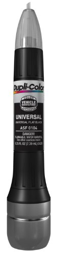 Dupli-Color ASF0104 Universal Flat Black Exact-Match Scratch Fix All-in-1 Touch-Up Paint - 0.5 oz. by Dupli-Color