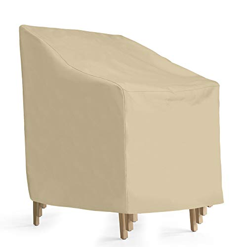 - SunPatio Outdoor Stackable Chair Cover, Heavy Duty Waterproof Stack of Chair Cover, Patio High Back Chair Cover 27
