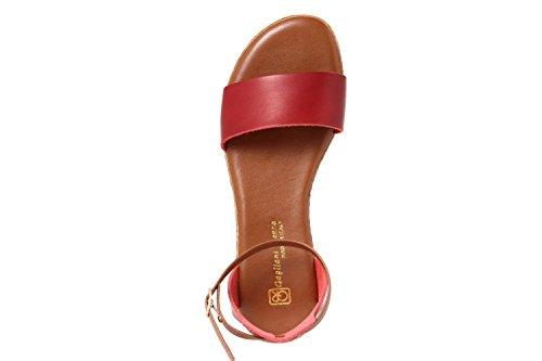 GAGLIANI RENZO - Sandalias de vestir de Piel Lisa para mujer rojo rojo