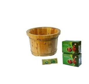 TCM Head-To-Toe Set- 3 Items: Cedar Wood Foot Soak Tub, 2 Bo