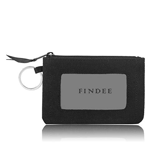 Iconic Zip ID Case Wallet/Coin Purse with Id Window - Signature Cotton (Black)