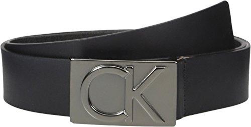 Calvin Klein Men's Calvin Klein 38mm Flat Strap Smooth, Matte Leather Belt, (Smooth Leather Belt Strap)