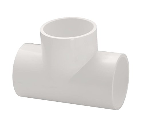 PVC Straight Tee Pipe Fitting - Socket / Slip - Schedule 40 - White - 4-Inch