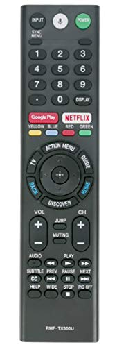 New Replace Bluetooth Remote RMF-TX300U Sub RMF-TX200U RMF-TX201U Voice Control fit for Sony Smart 4K TV 149331811 XBR-55X850S XBR-55X930D XBR-65X850D XBR-65X930D XBR-75X850D XBR-75X940D XBR-85X850D (Sony Tv Remote Controls)