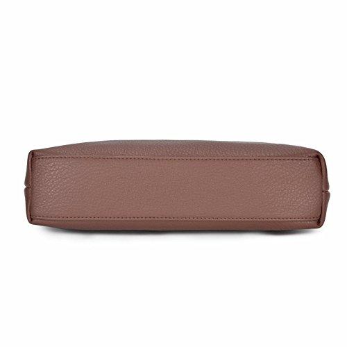 per tracolla Borse AMELIE piccole PU in tracolla GALANTI donna marrone a a pelle multi tasca B0nAqHnx