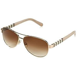 Kate Spade Women's Dalia Aviator Sunglasses, Gold & Brown Gradient, 58 mm