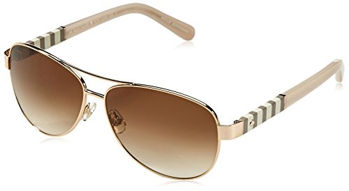 Kate Spade Women's Dalia Aviator Sunglasses, Gold & Brown Gradient, 58 - Spade Glasses Gold Kate