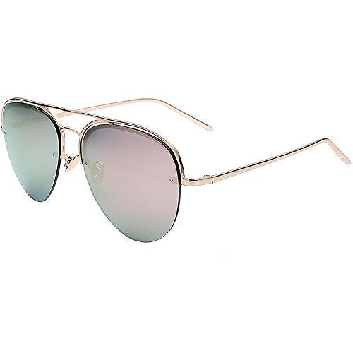 Ladies sunglasses/Bright reflective sunglasses/Large box full face visor mirrors/UV protection - Face Visor Full Sunglasses