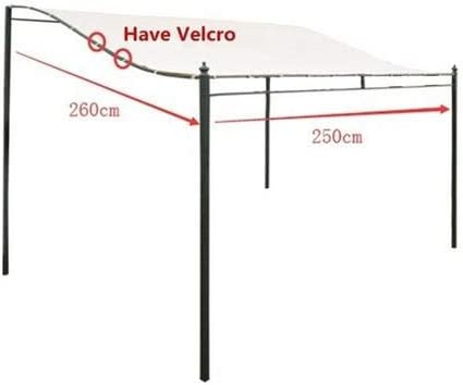Nishci DIY Patio Retractable Manual Awning Garden Sun Shade Canopy Gazebo with Waterproof Tear Resistance Cover Canopy Instant Shelter