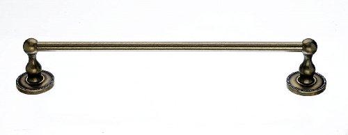 Top Knobs ED6GBZA Bath Edwardian Collection 18 Inch Single Towel Bar with Beaded Backplate, German Bronze Finish