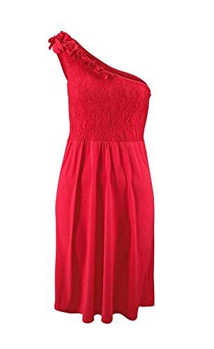 Melrose - Vestido - Una manga - Opaco - para mujer Rojo