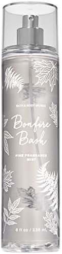 Bath and Body Works Bonfire Bash Fine Fragrance Mist 8 Ounce Gray Bottle Fall 2019 Collection