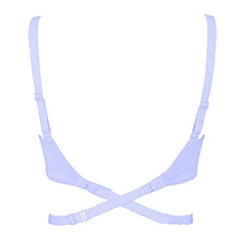 EUBUY 2PCS Women Adjustable Elastic Back Bra Strap Cross Belt Racerback Extended Band Backless Longline Bra Extender Invisible Underwear Fitting White