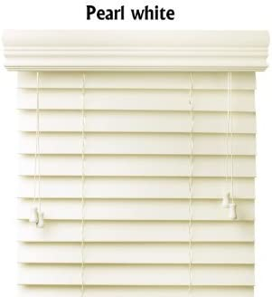 Bravada Select, Superior 2 Faux Wood Blinds Pearl, 30 1 2 Wide x 90 Length