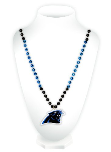 Rico NFL Carolina Panthers Team Logo Mardi Gras Style (Nfl Shop Panthers)