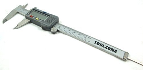 Tooltime Ms092 6-inch 150mm Electronic Digital Vernier Calliper - Black from Toolzone
