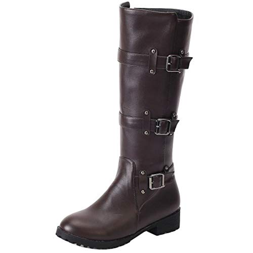 Melady Boots Brown Knee Pull On Fashion rIrqO