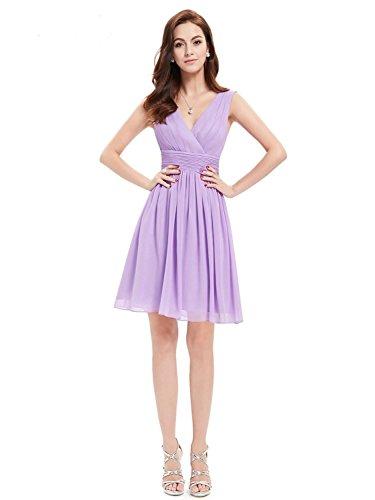 Angel Formal Dresses Womens Simple Short V Neck Chiffon Evening