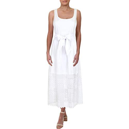 LAUREN RALPH LAUREN Womens Sleeveless Full-Length Maxi Dress White 10