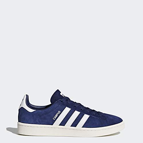 adidas Originals  Men's Campus Sneakers, Dark Blue/White/Chalk White, (8 M US) (Adidas Vintage Sneakers)