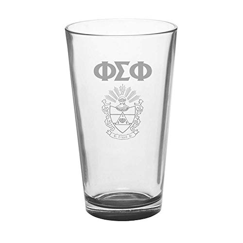 (Greekgear Phi Sigma Phi Mixing Glass Transparent)