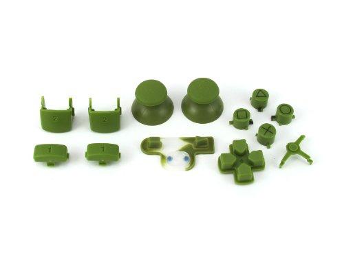 ps3 forest green full parts set thumbsticks buttons d