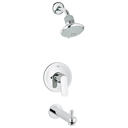 Eurosmart New Single Handle 2-Spray Tub and Shower Faucet Combination (Shower Combination Tub)