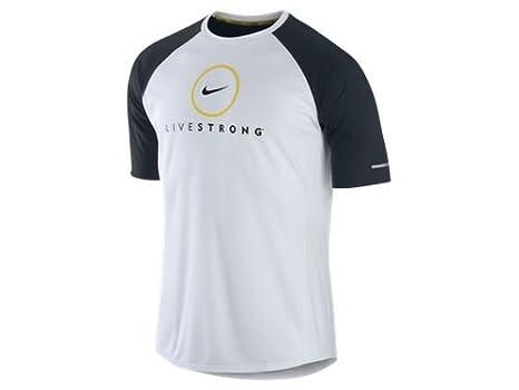 34229e4b Nike Men's Miler Livestrong Dri-Fit Running T-Shirt White 446877-101:  Amazon.ca: Sports & Outdoors