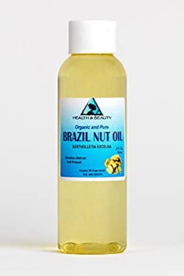 Brazil Nut Oil Organic Carrier Cold Pressed Natural Fresh 100% Pure 2 oz