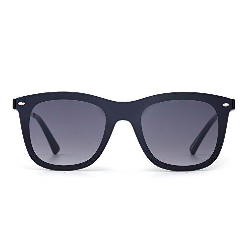 - JIM HALO Rimless Mirrored Sunglasses One Piece Frameless Eyeglasses Men Women (Black Frame/Grey Lens)