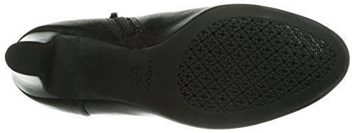 Geox D NEW MARIECLAIRE HI - botas de cuero mujer negro - negro