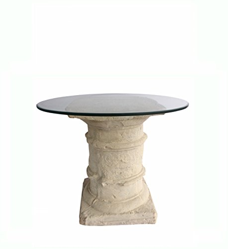 Anderson Teak Etruscan Pedestal Dining Table in Natural Beige