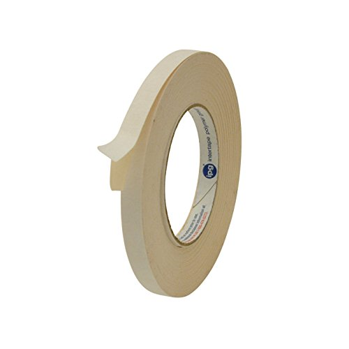 Intertape 591 Double Sided Flatback Paper Tape: 1/2 in. x 36 yds. (Beige)