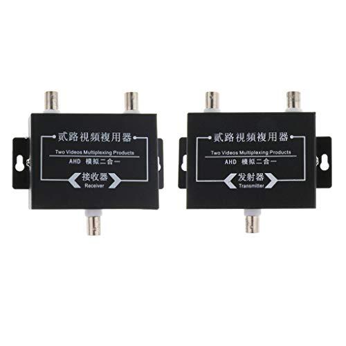 Baosity 2Pcs Industrial Surveillance Video Multiplexer 2Way Signal Receiver Transmitter by Baosity (Image #2)