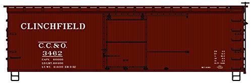 Accurail 1708 HO Scale 36' Double Sheath Wood Boxcar Clinchfield ()