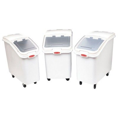 Prosave Mobile Ingredient Bin, 30.86Gal, 18W X 29 3/4D X 28H, White by Rubbermaid Commercial