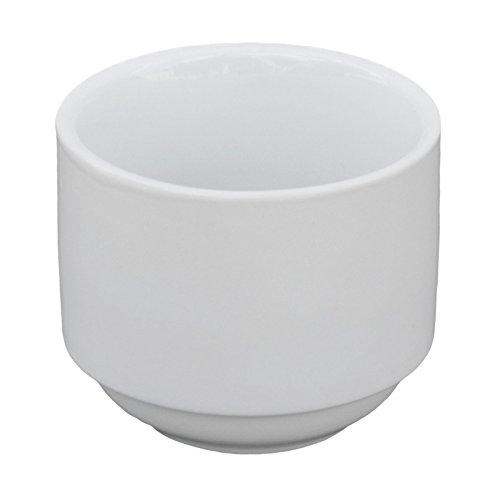 Francessa - Classico 7 oz. White Porcelain Stackable Bouillon Cup