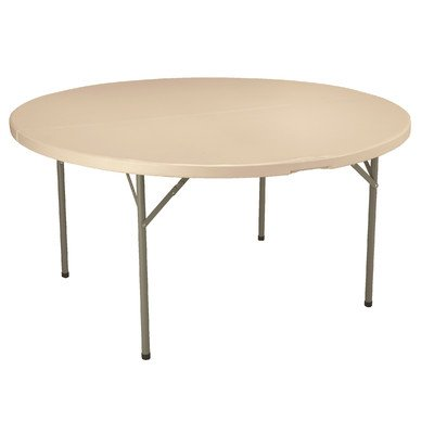 60 in. Round Blow-Molded Folding Table