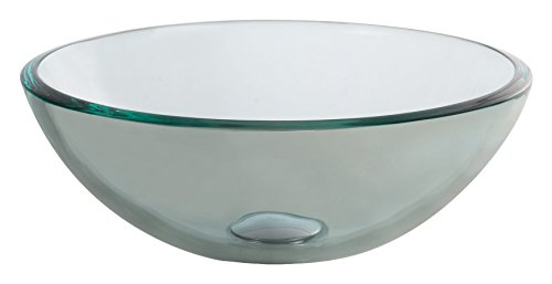 Kraus GV-101-14-CH Tempered glass/Solid brass Above counter Round Bathroom Sink, 14 x 14 x 5.5 inches, Bronze